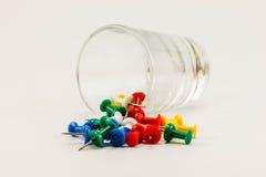 Duwspelden en glas Royalty-vrije Stock Foto