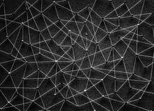 Duwspelden met een netwerk worden verbonden dat stock foto