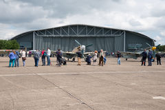 Duxford Airshow. Duxford, UK - 25th May 2014: Line up of German aircraft, at Duxford Airshow Royalty Free Stock Photography