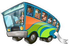 duży autobus Obrazy Royalty Free