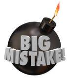 Duży błąd bomby błędu powiększenia gafy niebezpieczeństwo Zdjęcia Stock