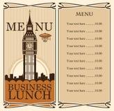 duży Ben menu Zdjęcia Royalty Free