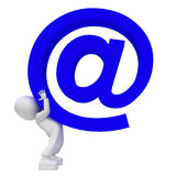 duży błękitny email Obrazy Stock
