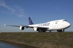 Duży Boeing 747 od saudyjczyka Arabia Obrazy Stock