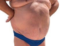 Duży brzuch mężczyzna Fotografia Royalty Free
