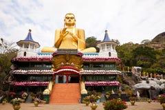 duży Buddha dambulla złoty lanka sri Obraz Royalty Free