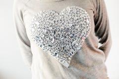 Duży, błyszczący serce, Fotografia Stock