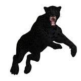 duży czarny kota jaguar Zdjęcia Stock