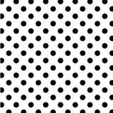 duży czerń kropkuje bezszwowego polka biel Zdjęcia Stock