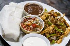 Duży meksykanina talerz jedzenie Fotografia Stock