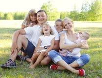 duży rodzina Zdjęcia Stock
