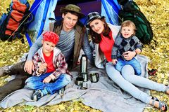 duży rodzina Zdjęcia Royalty Free