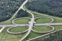 Duży ruchu drogowego skrzyżowanie Zdjęcia Stock