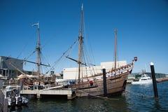 Duyfken-Replik-Piraten-Schiff lizenzfreie stockbilder