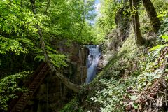 Samandere Waterfall in Duzce Royalty Free Stock Image