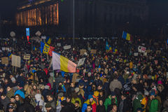 Duzi anci korupcja protesty w Bucharest Zdjęcie Stock