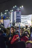 Duzi anci korupcja protesty w Bucharest Zdjęcia Royalty Free