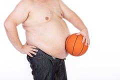 Duzi brzuch?w m??czy?ni przed diet? i sprawno?ci? fizyczn? obrazy stock
