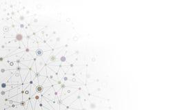 Duzi cząsteczkowej struktury różni kolory Fotografia Stock