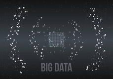 Duzi dane algorytmy Analiza Ewidencyjny Minimalistic Infographics projekt Nauka, technologii tło wektor Zdjęcie Royalty Free