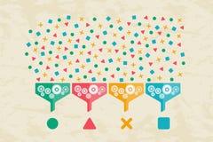 Duzi dane, dane nauka i komunikaci pojęcie, Zdjęcie Stock
