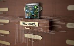 Duzi dane jako pojęcie obrazy royalty free