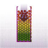 Duzi dane systematyzaci algorytmy Infographics projekt techno Obrazy Stock