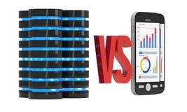 Duzi dane VS Mali dane Obraz Stock