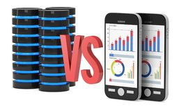Duzi dane VS Mali dane Obrazy Stock