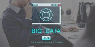 Duzi dane Wyszukuje bazy danych technologii pojęcie Obraz Royalty Free