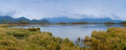 Duzi Dziewięć jezior Hubei Shennongjia las obraz royalty free