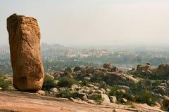 Duzi głazy przy Hampi India krajobrazem zdjęcia royalty free