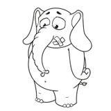 Duzi inkasowi wektorowi postać z kreskówki słonie na odosobnionym tle Stojaki z usta pieczętującym royalty ilustracja