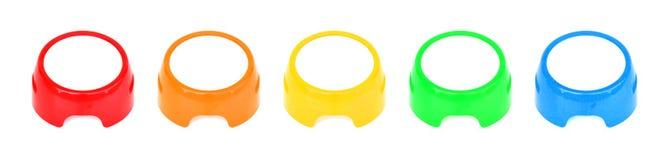 Duzi kolorowi guziki zdjęcie royalty free
