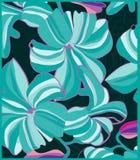 duzi kwiaty na ciemnym turkusowym tle Obrazy Stock