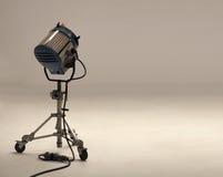 Duzi studia światła equipments dla filmu Zdjęcia Royalty Free