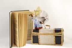 dvärg- historiker för kontorist arkivbild