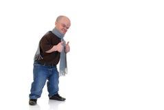 dvärg- liten man Arkivbild
