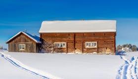 Dvärsätt during the winter. Winter in Dvärsätt, in Jämtland in the northern part of Sweden Royalty Free Stock Photos