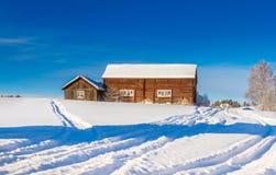 Dvärsätt during the winter. Winter in Dvärsätt, in Jämtland in the northern part of Sweden Royalty Free Stock Image