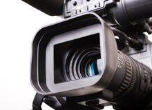 Dv-cam camcorder close-up. Close-up lens part of dv-cam camera recorder Stock Images