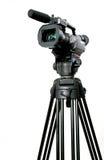 Dv camcorder. Stand black mini-dv camcorder on black tripod Stock Photography