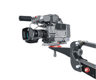 Dv-camcorder on crane Stock Photo