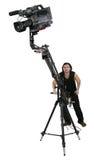 Dv-camcorder on crane Royalty Free Stock Photography