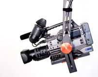 Dv camcorder on the crane Royalty Free Stock Image
