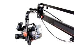 Dv camcorder on the crane. Dv camcorder on the handly operator crane Stock Photography