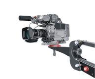 Dv-câmara de vídeo no guindaste Foto de Stock