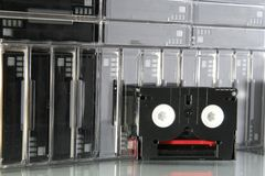 DV Tapes. Stored away stock photos