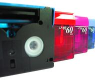 DV Tapes royalty free stock photo