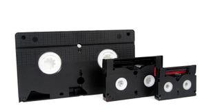 Dv video análogo velho do VHS das cassetes de banda magnética Imagem de Stock Royalty Free